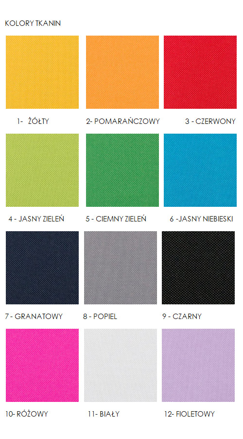 kolory materiałów